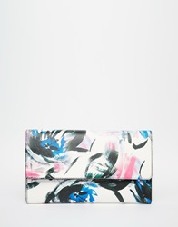 Warehouse Brushstroke Clutch Bag Multi