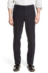 Men's Big And Tall Bonobos Slim Fit Wool Trousers Charcoal Grid