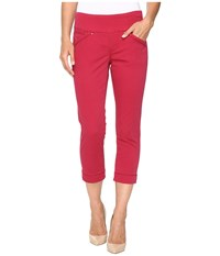 Jag Jeans Marion Crop In Bay Twill Winter Berry Women's Red