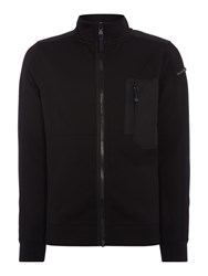 Duck And Cover Men's Brixham Zip Through Active Jacket Black