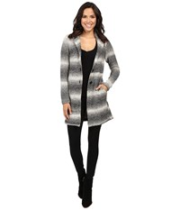 Lucky Brand Ombre Car Coat Grey Multi Women's Coat Gray