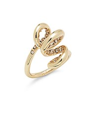 Alexis Bittar 10K Gold Plated Crystal Spiral Ring