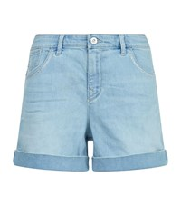 Armani Jeans Embellished Denim Shorts Female Blue