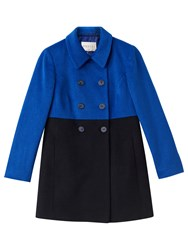 Precis Petite Addison Colour Block Coat Navy