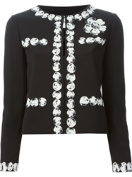 Moschino Cheap And Chic Pebble Print Jacket Black
