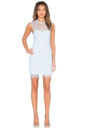 Bardot Braxton Lace Mini Dress Baby Blue