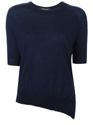 Neil Barrett Asymmetric Hem Sweater Blue
