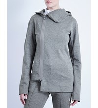 Y 3 Frost Cotton Jersey Hoody Mid Grey Heather