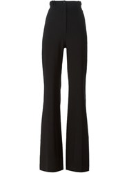 Plein Sud Jeans Plein Sud High Waist Flared Trousers Black
