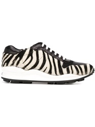 Opening Ceremony Zebra Print Lace Up Sneakers Black