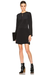 3.1 Phillip Lim Bell Sleeve Silk Wrap Dress With Keyhole Front In Black