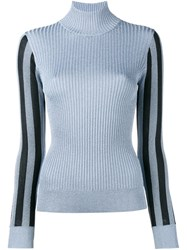 House Of Holland Ribbed Knit Jumper Blue