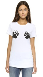 Barber Bear Paws Tee White