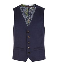 Ted Baker Camberw Modern Fit Waistcoat Male Blue