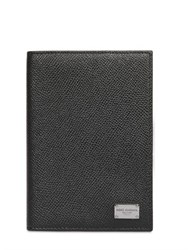 Dolce And Gabbana Dauphine Leather Passport Holder