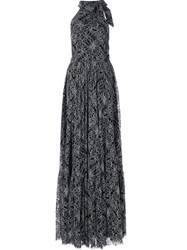Zac Posen High Neck Gown Black