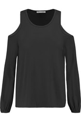 Rebecca Minkoff Page Cutout Cotton Jersey Top Black