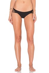 Luli Fama Verano De Rumba Strappy Buns Out Bikini Bottom Black