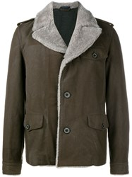 Lanvin Aviator Jacket Brown