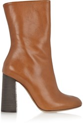 Chloe Leather Boots Tan