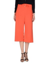 Elisabetta Franchi Trousers 3 4 Length Trousers Women Orange