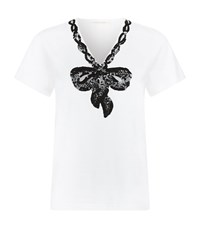 Marc Jacobs Embroidered Bow T Shirt Female White