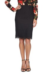 Women's Cece By Cynthia Steffe Scallop Lace Pencil Skirt