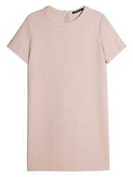 Mango Minimal Dress Light Pink