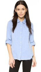 Stateside Raw Hem Shirt Chambray