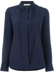 Tory Burch Pleated Placket Shirt Blue