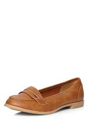 Dorothy Perkins Lily Tab Loafers Brown