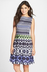 Women's Maggy London Print Cotton Sateen Fit And Flare Dress