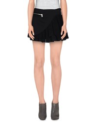 Uniqueness Skirts Mini Skirts Women Black