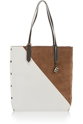 Elizabeth And James Scott Color Block Leather And Suede Tote