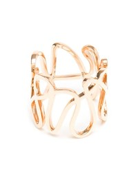 Repossi 18K Rose Gold White Noise Ring Rose Gold White Polished Gold