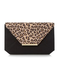 Head Over Heels Beronika Envelope Clutch Bag Leopard Print