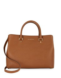 Michael Michael Kors Savannah Saffiano Leather Satchel Luggage