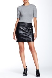 Romeo And Juliet Couture Zipper Faux Leather Mini Skirt Black