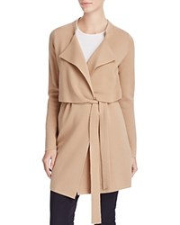 Basler Knit Trench Cardigan Camel