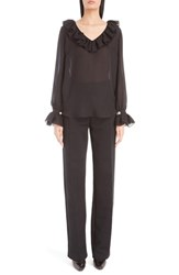 Givenchy Women's Silk Georgette Peasant Blouse