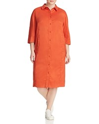 Marina Rinaldi Disco Shirt Dress Rust