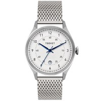 Tsovet Svt Rm40 White And Silver Mesh Strap Watch