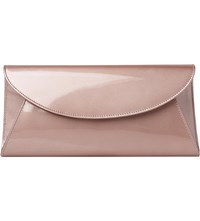 Lk Bennett Flo Patent Leather Envelope Clutch Bag Gol Soft Gold