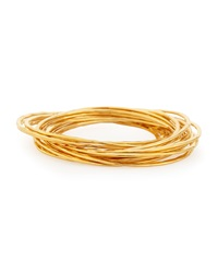Devon Leigh 18 K Yellow Gold Plated Bangle Set