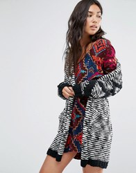 Billabong Shawl Cardigan In Chunky Knit Black