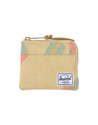 The Herschel Supply Co. Brand Small Leather Goods Coin Purses Men Beige
