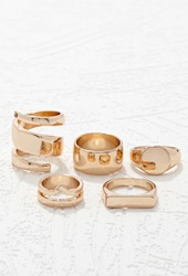 Forever 21 Plated Ring Set Gold
