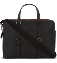 Ted Baker Grained Leather Briefcase Black