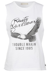 Rusty Runaway Top White