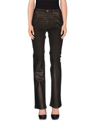 Roberto Cavalli Denim Denim Trousers Women Dark Brown